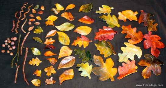 Sugar art, fall leaves, edible fall leaves, fall sugar leaves, wedding cake decorations, gumpaste leaves, edible leaves